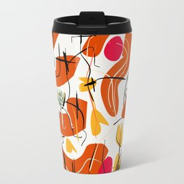 Flowers and Birds Illustration Pattern Travel Mug