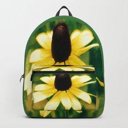 Vibrant Yellow Coneflower Backpack