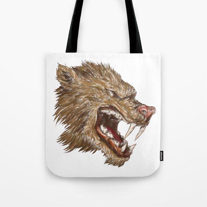 Head with sharp teeth Tote Bag