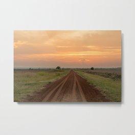 Follow your dreams, a Oklahoma sunset Metal Print