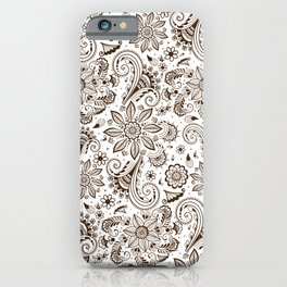 Mehndi or Henna Flowers iPhone Case