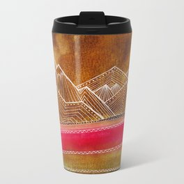 Lines in the mountains 01 Metal Travel Mug