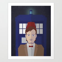 The 11th Doctor Art Print