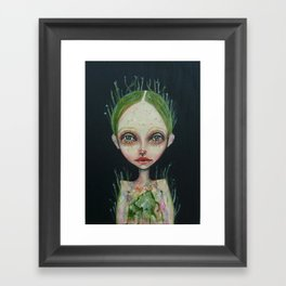 grass girl Framed Art Print