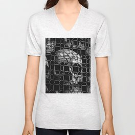 skull cage Unisex V-Neck