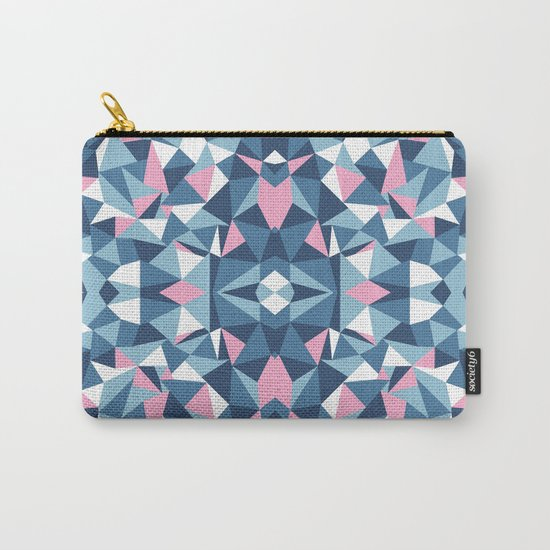 Abstract Collide Blue and Pink Carry-All Pouch