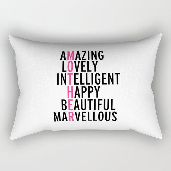 Mother Quote Rectangular Pillow