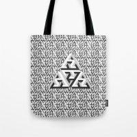 escher Tote Bags featuring Escher Pattern by HeroStatus