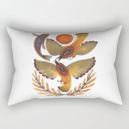 Fighting Birds Rectangular Pillow