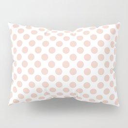 Millennial Pink Small Polka Dots Pillow Sham