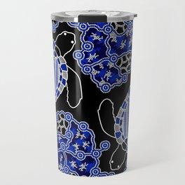 Turtles - Sea Turtle Dreaming - Aboriginal Art Travel Mug