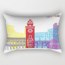 Bergamo skyline pop Rectangular Pillow