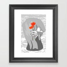 Poppy Back Framed Art Print