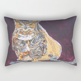Owl Cat Rectangular Pillow