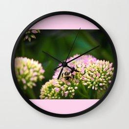 Bumblebee pink Wall Clock