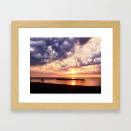 Life's Better at the Beach Framed Art Print