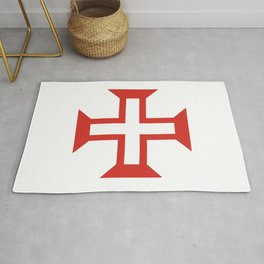 Cross of the Order of Christ Rug