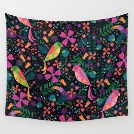 Enchanted Tiki Birds Wall Tapestry