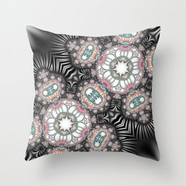 Abstract with controversial colors Throw Pillow
