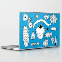 sticker Laptop & iPad Skins featuring Sticker World by Duru Eksioglu