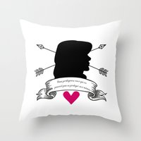 allison argent Throw Pillows featuring Allison Argent by smartypants