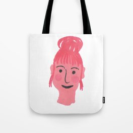 """""""Vicky"""" girl with bun and rosy cheeks Tote Bag"""