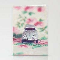 volkswagon Stationery Cards featuring VDub Beetle by Anna Dykema Photography
