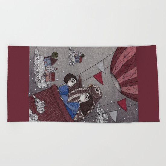 Through the Clouds and Back Again Beach Towel