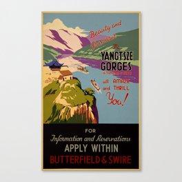 Beauty and grandeur – The Yangtsze [Yangtze] Gorges Canvas Print