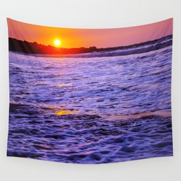 dusk to wave Wall Tapestry