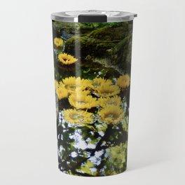 sunflowers in the stream Travel Mug