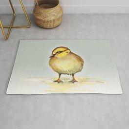 Cute duckling watercolor Rug