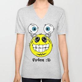 FREAKIN' Big Smile Emoticon! Unisex V-Neck