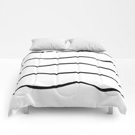 Black waves Comforters