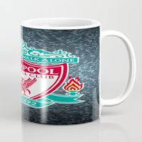 liverpool Mugs featuring LIVERPOOL by Acus