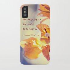 Begin with Joy iPhone X Slim Case