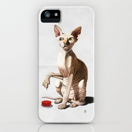 Cat-astrophe (Wordless) iPhone Case