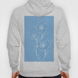 Blue Glass Floral Tile Hoody