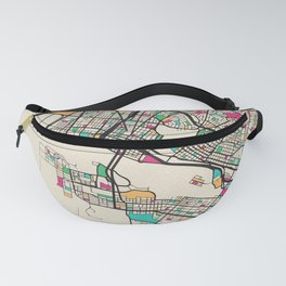 Colorful City Maps: Oakland, California Fanny Pack