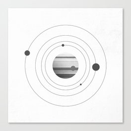 Moons of Jupiter Canvas Print