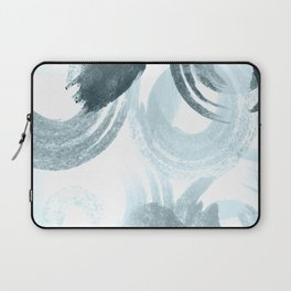 Curling Blue Laptop Sleeve