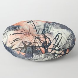 Perennial: abstract floral painting by Alyssa Hamilton Art Floor Pillow