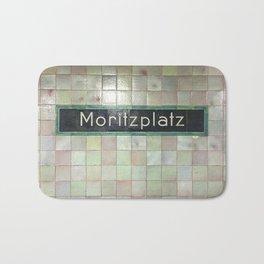 Berlin U-Bahn Memories - Moritzplatz Bath Mat