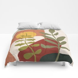 Two Abstract Branches Comforters