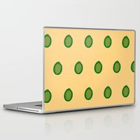 lime green Laptop & iPad Skins featuring lime by D.J.D