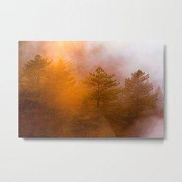 Big Sur Sunset Glow Metal Print