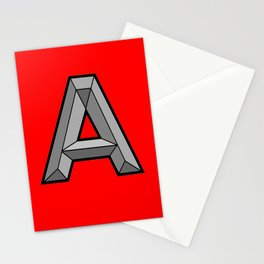 Silver A Stationery Cards