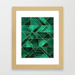 Abstract Nature - Emerald Green Framed Art Print