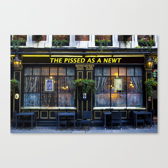 The Pissed as a Newt Pub Canvas Print