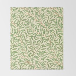 "William Morris ""Willow Bough"" Throw Blanket"